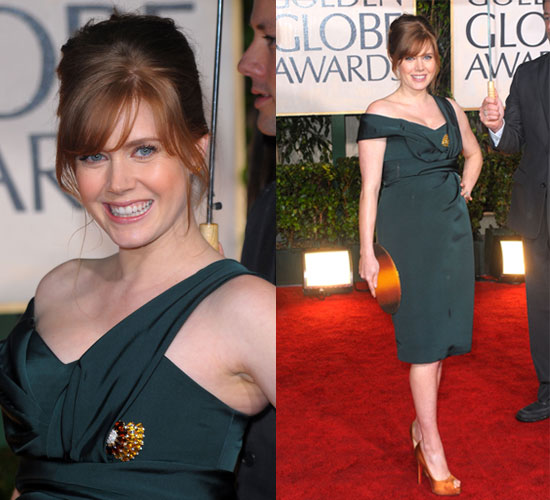 Amy Adams in Carolina Herrera at the 2010 Golden Globes Awards