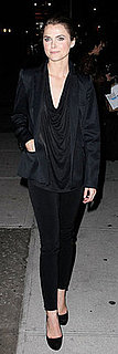 Keri Russell Wears All Black to Late Show