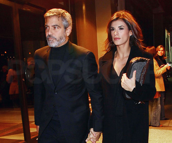 Slide Photo of George Clooney and Elisabetta Canalis in NYC