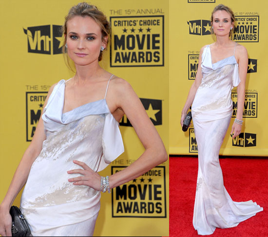 Diane Kruger at the Critics' Choice Awards in White