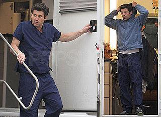 Photos of Patrick Dempsey and Ellen Pompeo on the Set of Grey's Anatomy in LA