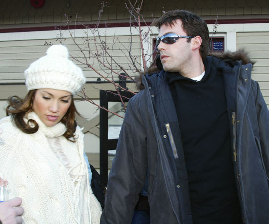 Ben Affleck and Jennifer Lopez in coordinated black and white at the 2003 festival.