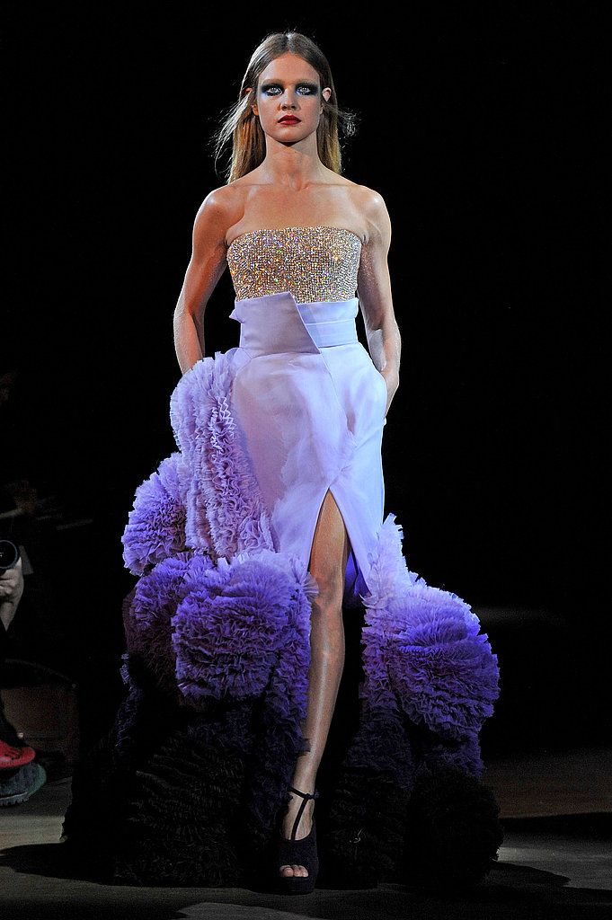 Givenchy Spring 2010 Couture: Feathers, Frills, and . . . Bermuda Shorts