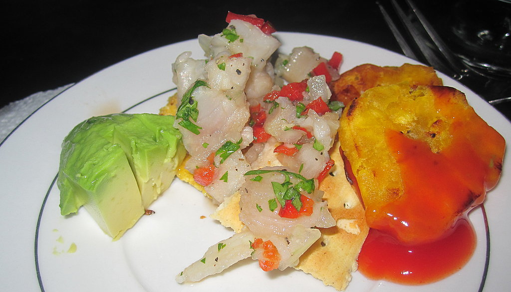 Ceviche and Fried Plantains