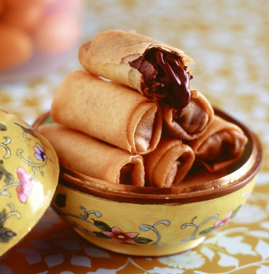 Chinese new year chocolate spring roll recipe popsugar food for Asian cuisine dessert