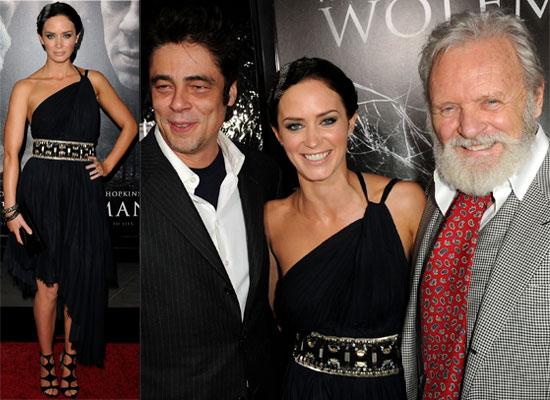 Photos of Emily Blunt, Benicio Del Toro, Anthony Hopkins and John Krasinski at The Wolfman Premiere in LA 2010-02-10 08:08:00