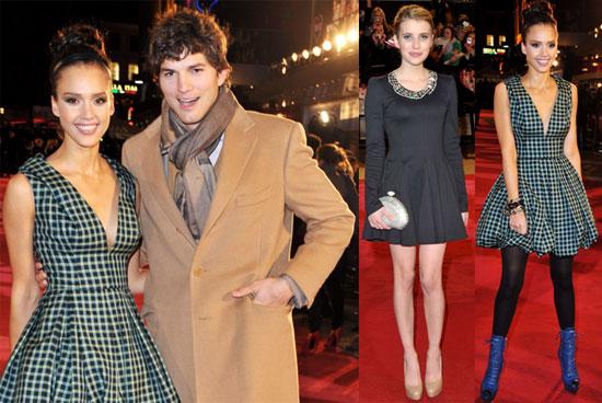 Photos of Ashton Kutcher, Demi Moore, Emma Roberts, and Jessica Alba at the London Premiere of Valentine's Day