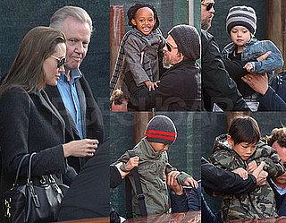 Photos of Angelina Jolie, Brad Pitt, Jon Voight, Zahara Jolie-Pitt, And Pax Jolie-Pitt Together in Venice