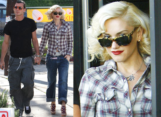 Photos of Gwen Stefani and Gavin Rossdale Out for Lunch on Valentine's Day