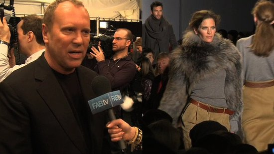 Michael Kors Interview Backstage at New York Fashion Week Fall 2010