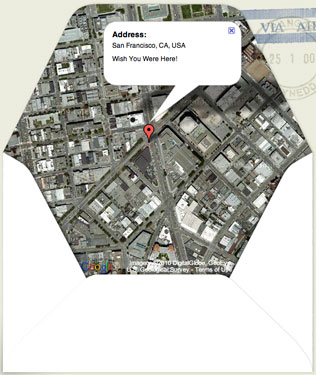 Print Your Own Envelope With a Google Map Location on the Inside