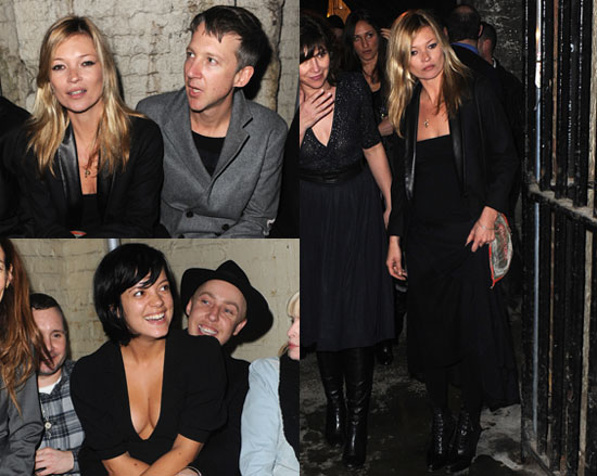 Photos of Kate Moss and Lily Allen at London Fashion Week 2010-02-24 20:00:06