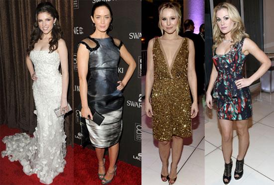 Photos of Anna Kendrick, Emily Blunt, Kristen Bella, Anna Paquin at Costume Designers Guild Awards in LA 2010-02-26 05:00:00