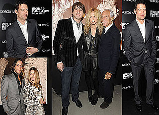 Photos of Clive Owen and Rachel Zoe at the Richard Hambleton Show Hosted by Vladimir Restoin-Roitfeld During Milan Fashion Week