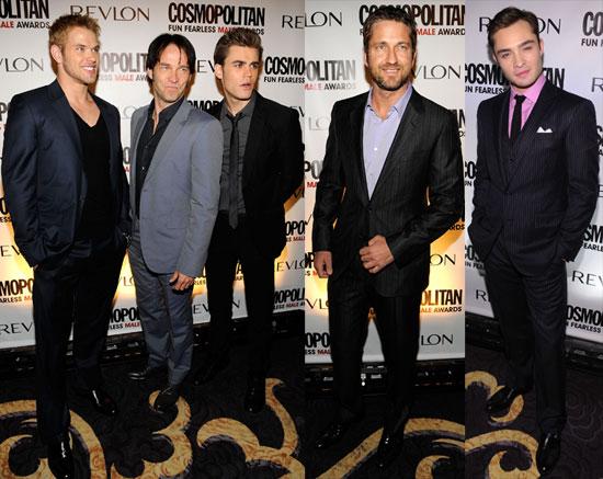 Photos of Kellan Lutz, Paul Wesley, Ed Westwick, Gerard Butler and Stephen Moyer at Cosmopolitan Party 2010-03-02 07:00:00