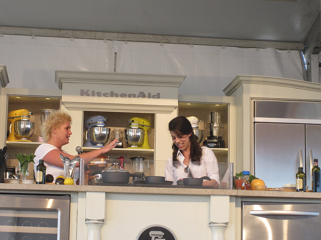 Then, Anne jumped on the stage during Claire's demo.