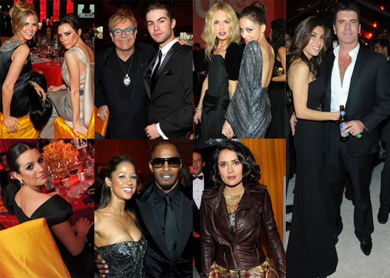 Photos of Nicole Richie, Heidi Klum, Victoria Beckham, Simon Cowell,and More at Elton John's 18th Annual AIDS Foundation Oscars