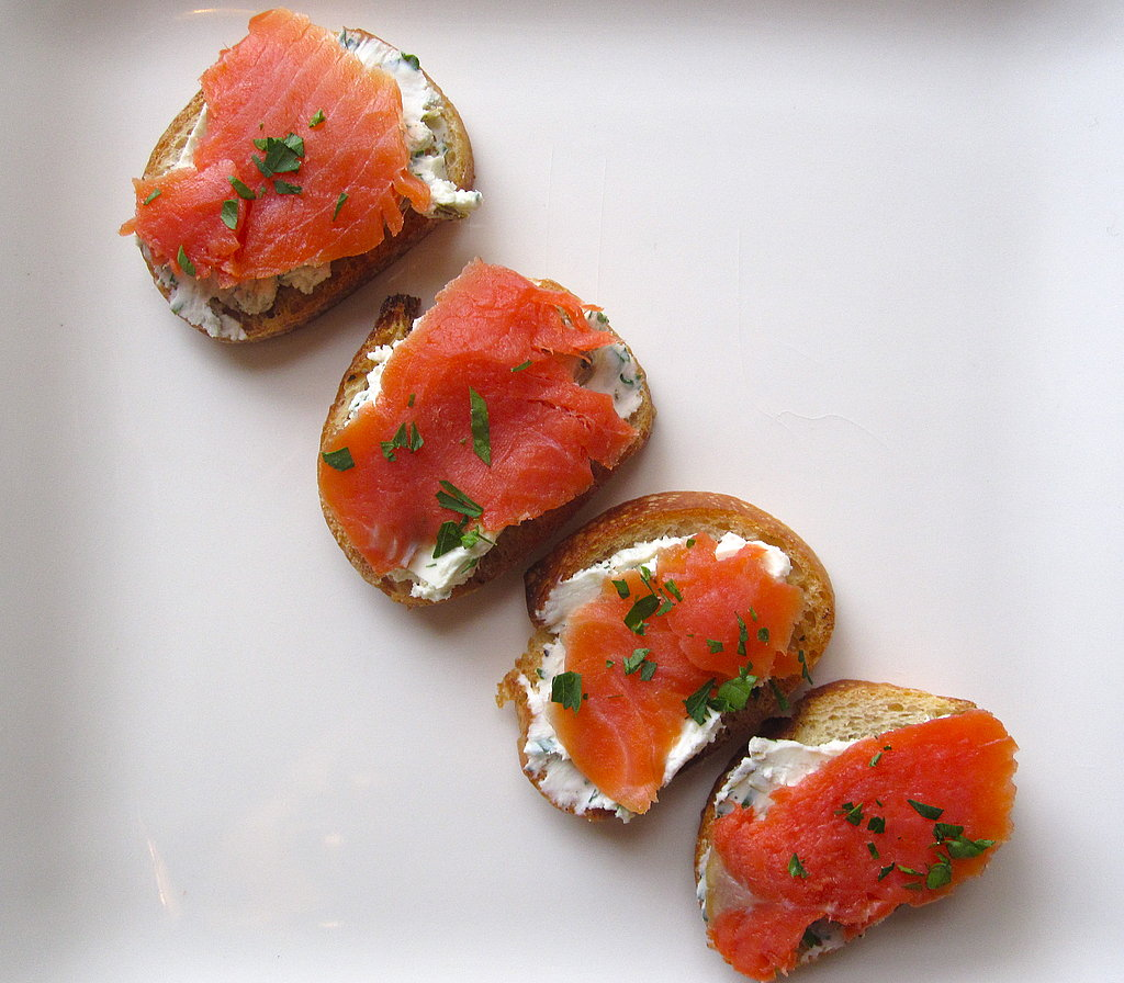 Easy Smoked Salmon and Goat Cheese Crostini Recipe | POPSUGAR Food