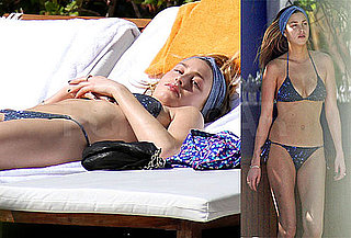 Photos of Whitney Port in a Blue Bikini Laying Out in Miami