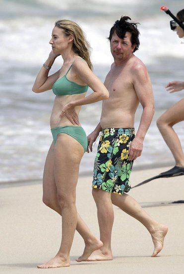 Photos of Michael J Fox And Tracy Pollan on Vacation in St Barts