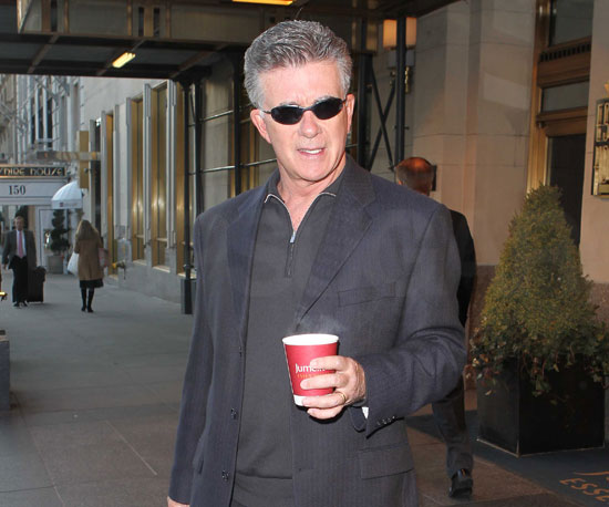 Slide Photo of Alan Thicke Getting Coffee in New York