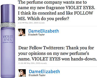 Elizabeth Taylor Lets Twitter Name New Perfume