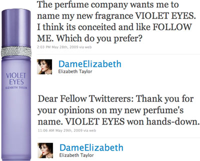 Elizabeth Taylor Lets Twitter Name New Perfume