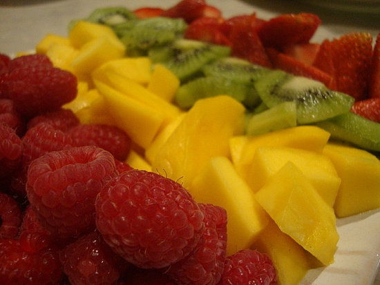 Doesn't this picture of fresh fruit taken by GirlA get you excited for spring?