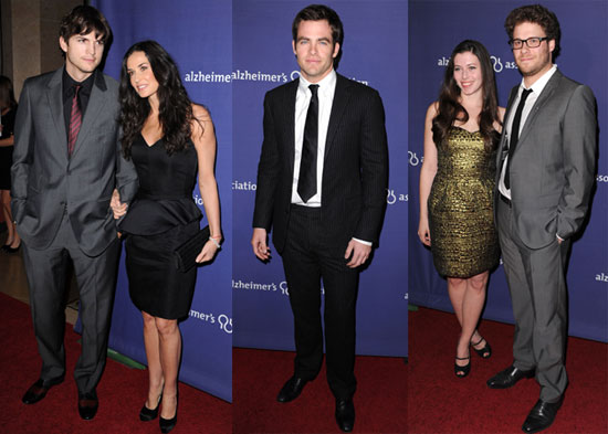 Photos of Demi Moore, Ashton Kutcher, Chris Pine, Seth Rogen, and More at the Night at Sardi's Charity Event