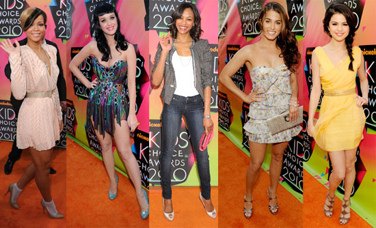 Photos From the Red Carpet at the 2010 Kids' Choice Awards