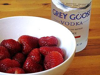 Spring Strawberry Cocktail Recipe for Strawberry Ginger Caipirosca