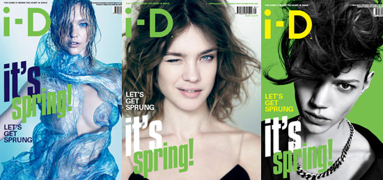 Natalia Vodianova, Freja Beha Erichsen, Sasha Pivovarova on i-D Magazine Spring Covers 2010-03-23 07:50:22