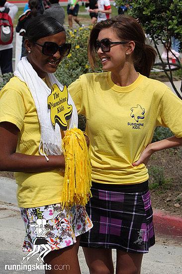 Audrina Patridge Runs LA Marathon in Running Skirt