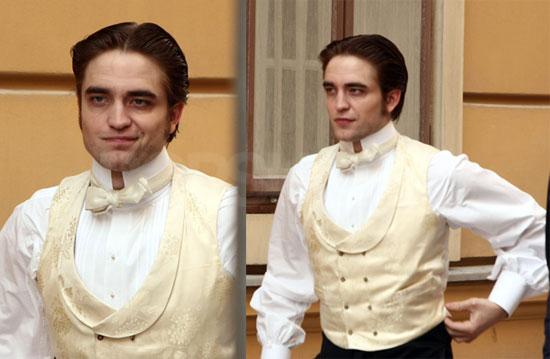 Photos of Twilight's Robert Pattinson Filming Bel Ami With Uma Thurman