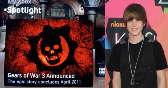 Justin Bieber Causes Gears of War 3 Leak