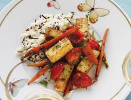 Wild Rice With Glazed Carrots and Tofu Recipe
