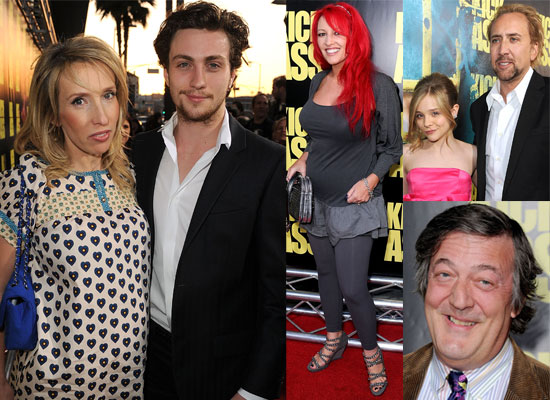 Photos from the Kick-Ass Hollywood Premiere with Aaron Johnson, Chloe Moretz, Sam Taylor Wood, Stephen Fry