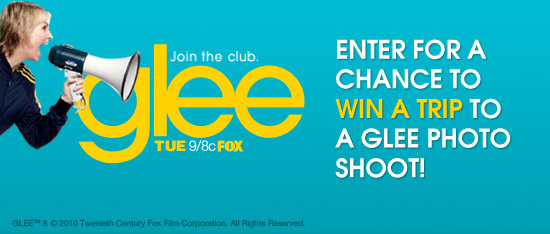 Win a Trip To LA To See A Glee Photo Shoot!
