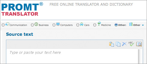 Translate Websites and Phrases With Promt