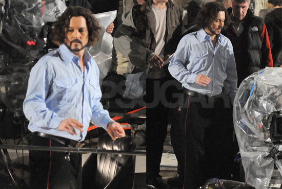 Pictures of Johnny Depp Filming The Tourist