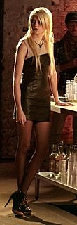 Jenny Humphrey Style in Leather Dress on Gossip Girl