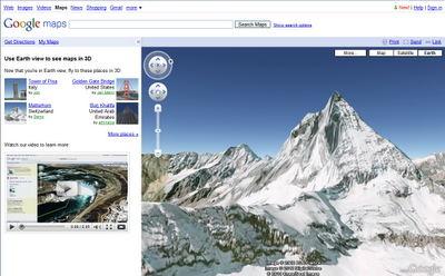 Google Earth Now Available in Google Maps