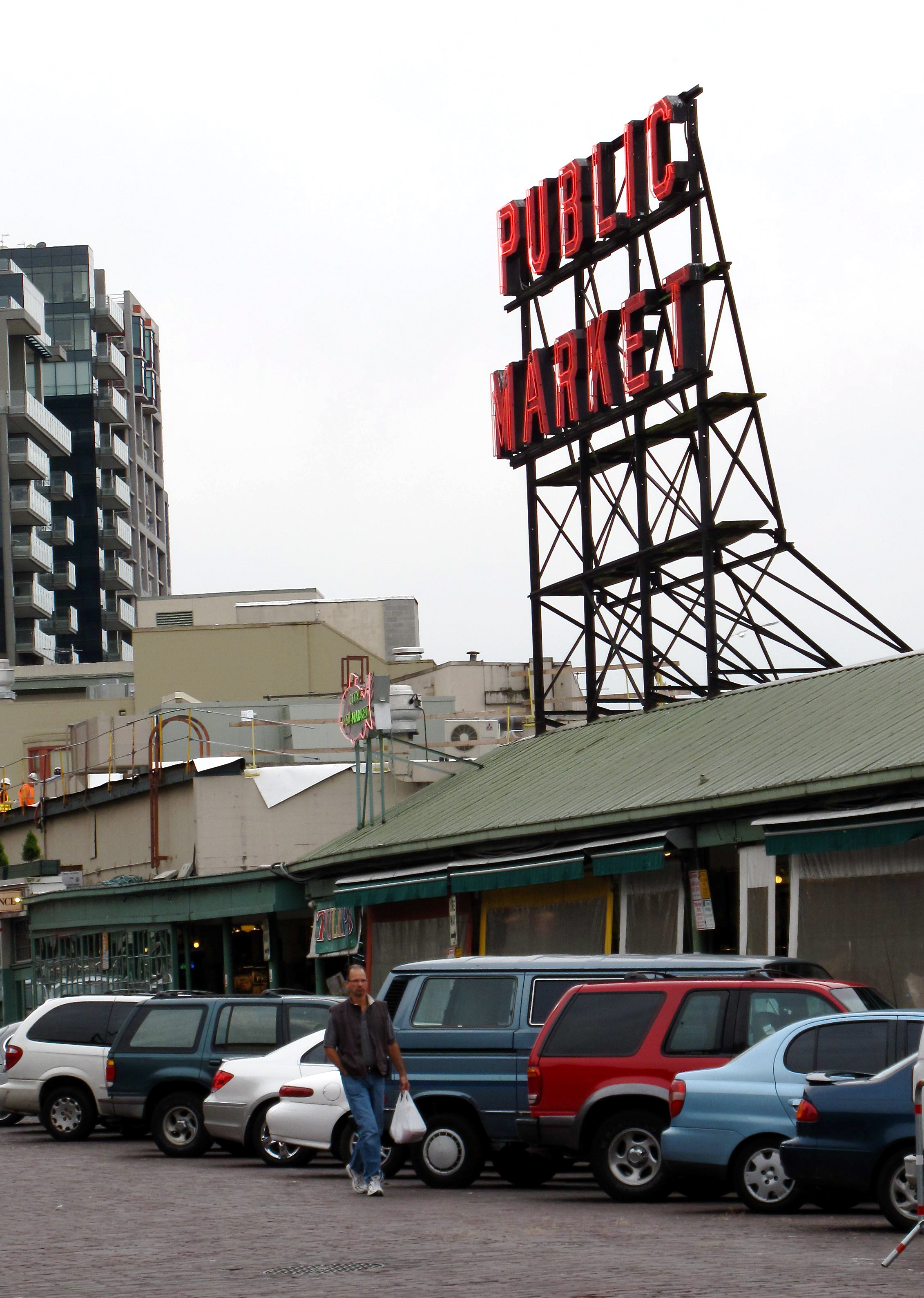Store number one directly across from the covered stalls at Seattle&#039;s famed Pike Place Public Market.