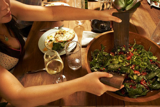 Keep Serving Plates Off the Table to Eat Fewer Calories