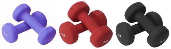 Vary the Size Dumbbell Depending on the Exercise