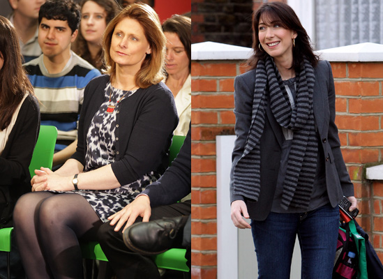 Photos of Samantha Cameron and Sarah Brown Campaigning for General Election 2010