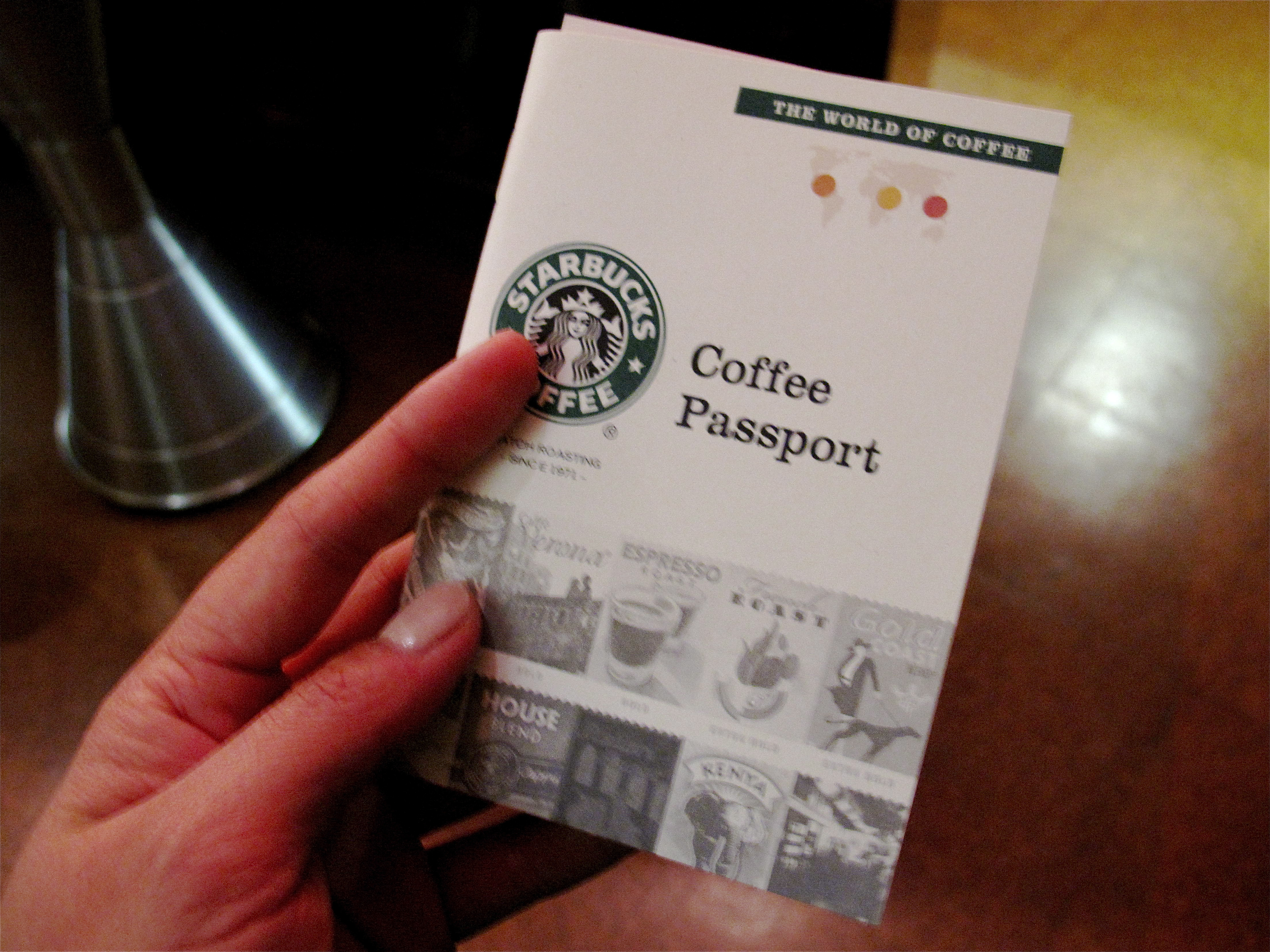 "I was given a ""coffee passport"" to help navigate me through the tasting."