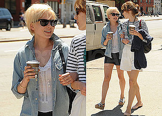 Pictures of Michelle Williams Walking in NYC With Her Blonder, Shorter Haircut