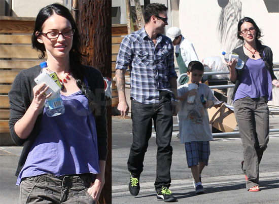 Pictures of Megan Fox and Brian Austin Green After Eating Lunch in LA