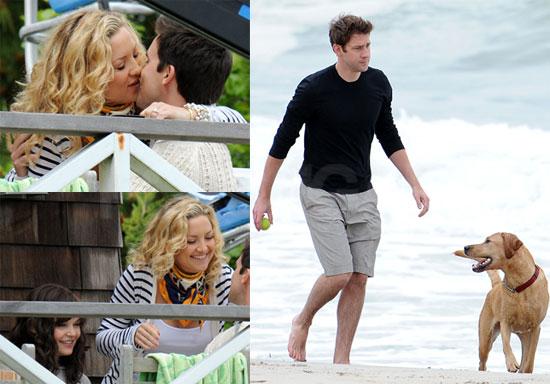 Pictures of Kate Hudson, John Krasinski, Ginnifer Goodwin Filming Something Borrowed in the Hamptons